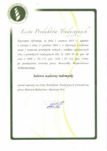 Certyfikat Martika
